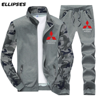 Mitsubishi Car Clothing Set Spring Autumn Outdoor Sport Suits Camouflage Ride Pants Mens Hoodies Jacket Mitsubishi Logo Hoodies