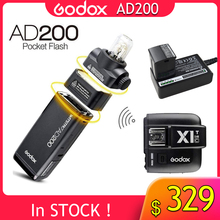 все цены на GODOX Original AD200 TTL 2.4G HSS 1/8000s Pocket Flash Light Double Head 200Ws with 2900mAh Lithium Battery Flashlight Flash онлайн