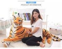 Моделирование Тигр плюшевые игрушки большой 170 см желтый склонны Тигр удивлены подарок на день рождения, Рождество подарок 0229