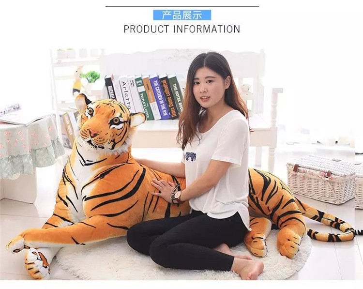 simulation tiger Plush toy large 170cm yellow prone tiger  surprised birthday  gift ,Xmas gift 0229 stuffed animal 110 cm plush simulation lying tiger toy emulation yellow tiger doll great gift free shipping w400