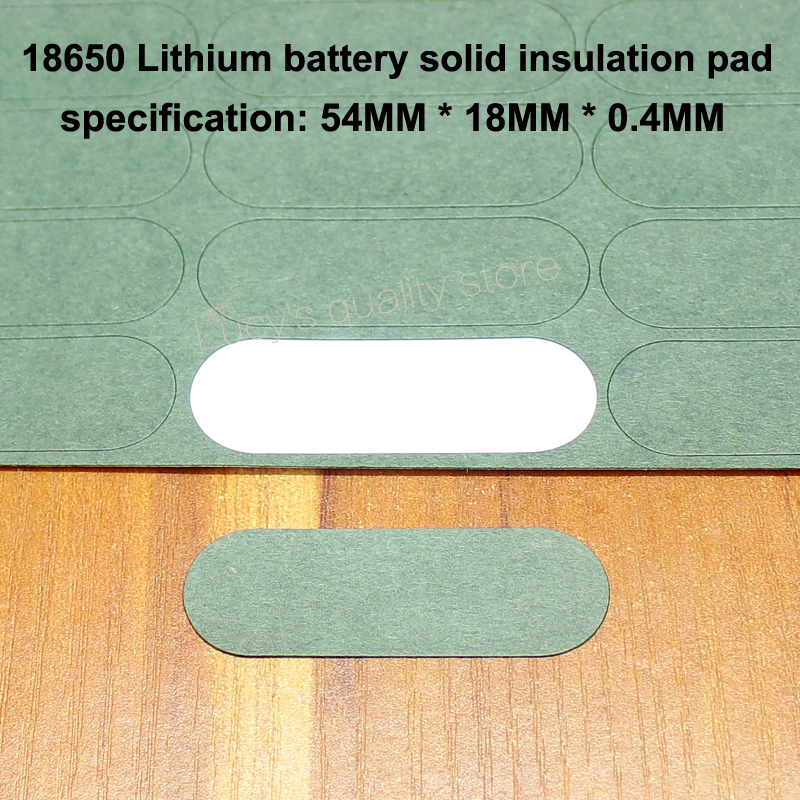50pcs lot 18650 Lithium Battery Insulation Pads 3S Solid Pads Insulation Pads Battery Accessories in Replacement Parts Accessories from Consumer Electronics