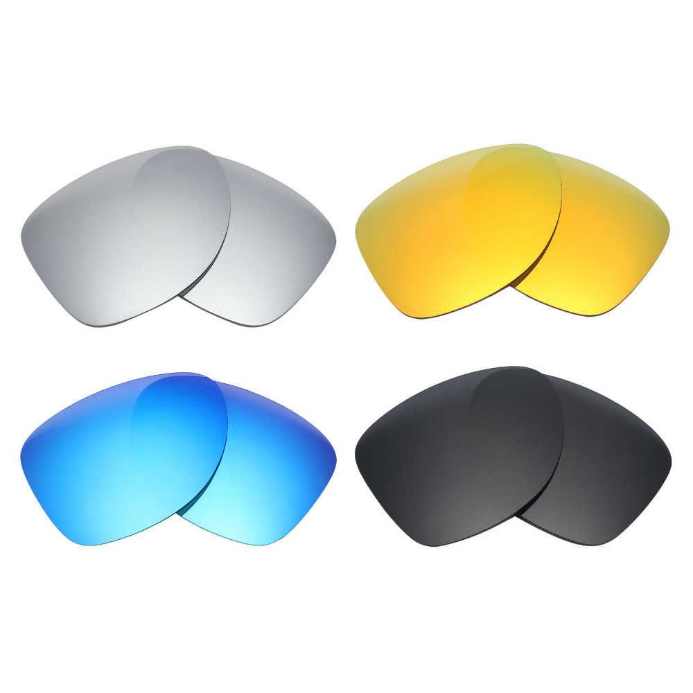 4 Pairs MRY POLARIZED Replacement Lenses for Oakley Dispatch 2 Sunglasses  Stealth Black   Ice Blue   Fire Red   Silver Titanium 4653a8717c