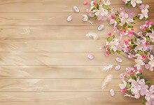 Деревенские Свадебные цветы деревянный пол фоны весна ребенок Floordrop вечерние украшения баннер фотостудия фон для фотосъемки