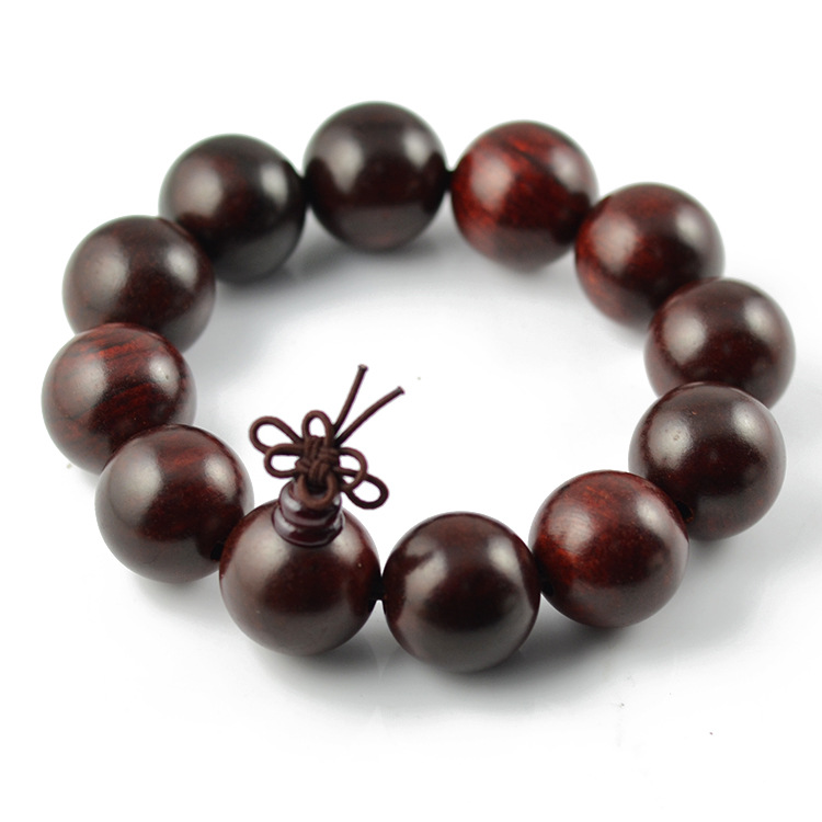 Fashion Trendy Authentic Natural Rosewood font b Bracelet b font Women Men Jewelry Round Buddha Beads