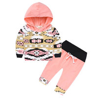 Hot Fashion Cute Baby Girl Clothes Cotton Long Sleeve Newborn Gift Set Baby Outfit New Year