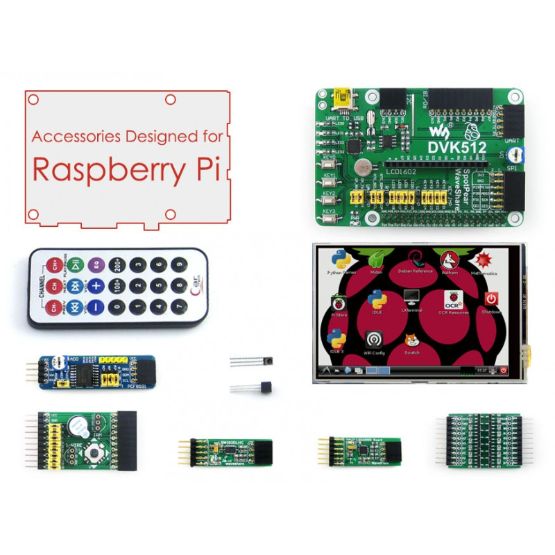 Parts Raspberry Pi Accessories 3.5'' Raspberry-pi LCD Screen + Raspberry-pi Expansion Board + Modules Development Kit for All pi eben upton raspberry pi user guide