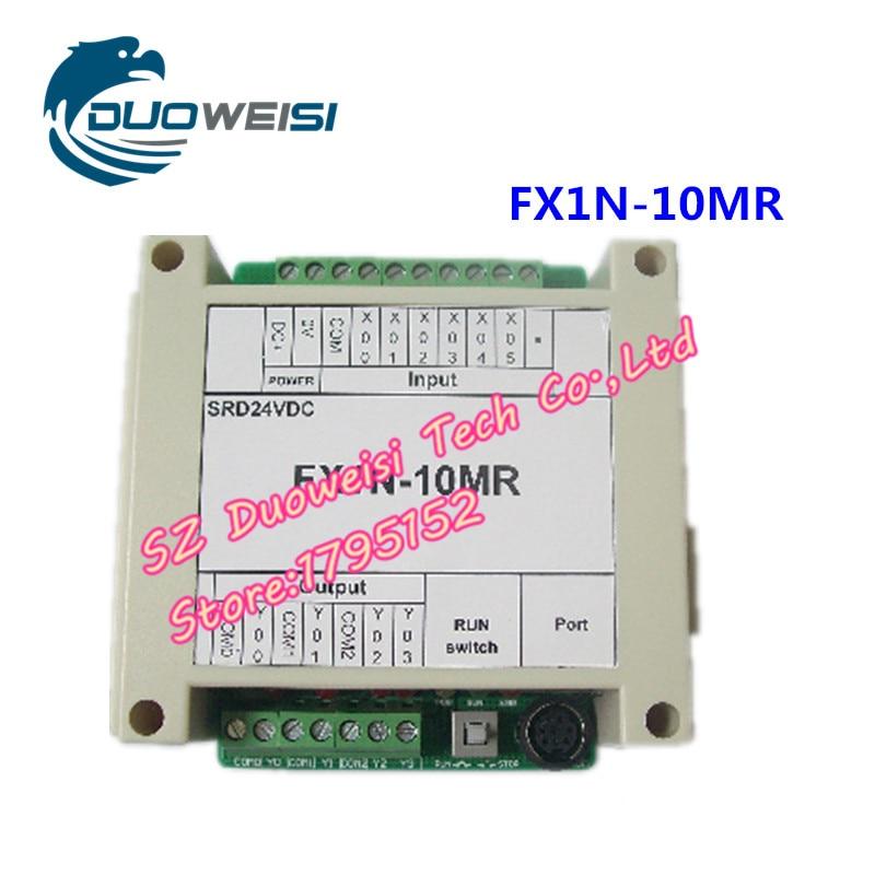 PLC IPC board microcontroller control board PLC FX1N-10MR SRD24VDC housing FX1N 10MR microcontroller