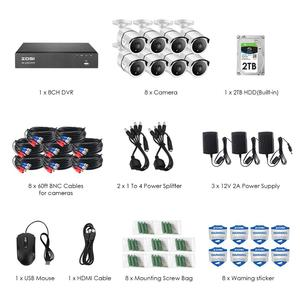 Image 2 - ZOSI 4K 8CH Ultra HD CCTV Camera System H.265+ DVR Kit with 2TB HDD 8PCS 8MP TVI Outdoor Home Video Security Surveillance System