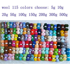 WFPFBEC felt 50g 100g 150g 200g 300g 500g wool for needle felting set doll merino wool roving sheep wool fiber diy crafa