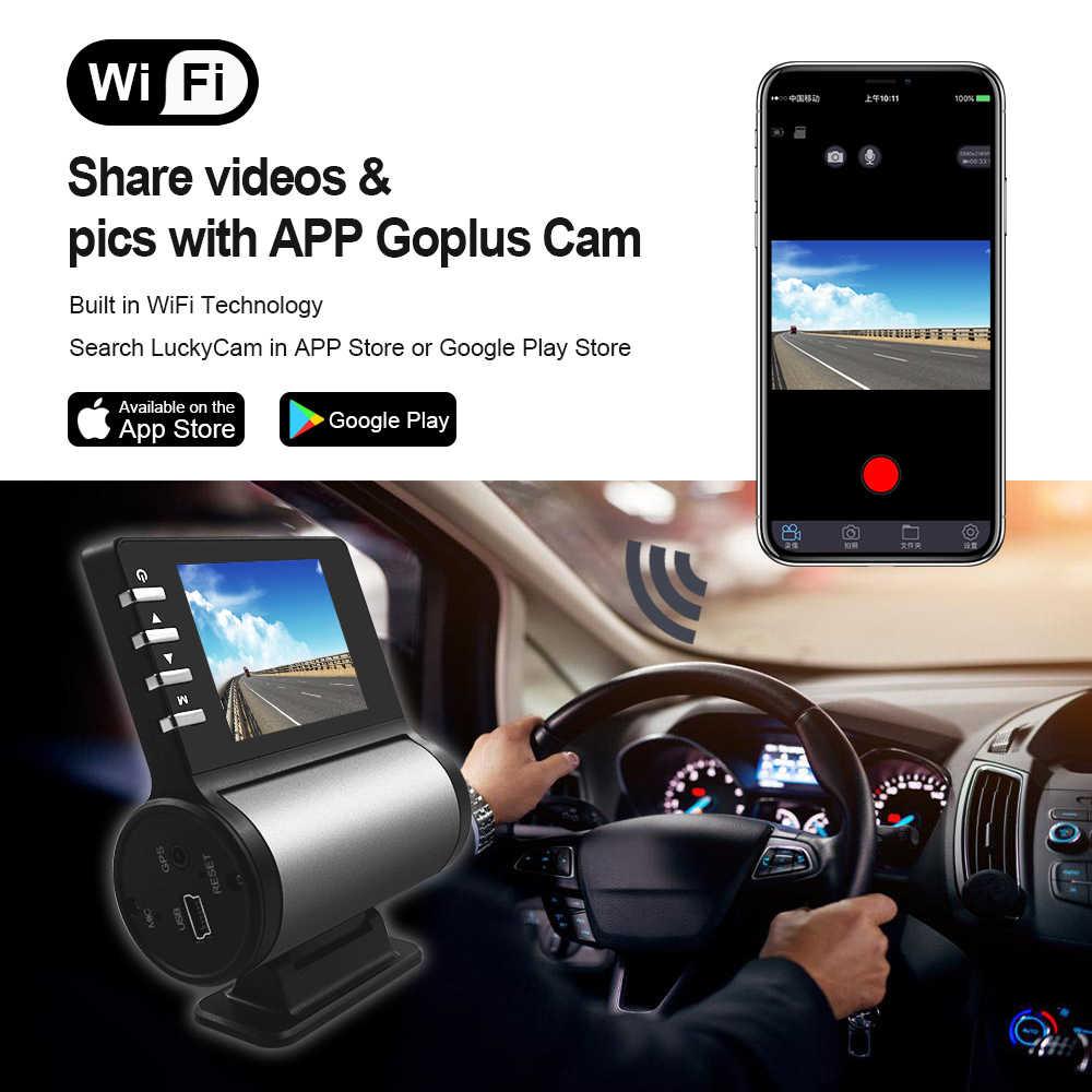 إيغليكام 1080P كامل HD جهاز تسجيل فيديو رقمي للسيارات واي فاي كاميرا مسجل لتحديد المواقع شاشة للمساعدة في ركن السيارة بسهولة 170 درجة زاوية واسعة داش كام حامل مغناطيسي مسجل