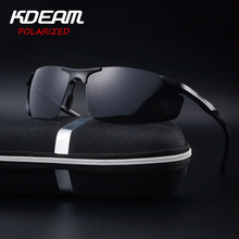 KDEAM 2017 Hot Selling Fashion Polarized Exercise Driving Sunglasses for Men glasses Brand Designer with High Quality 4 Colors