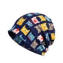 Осенне-зимняя Кепка для бега, ветрозащитный шарф с принтом кота, дышащая эластичная шапка, теплая шапка для пешего туризма, шляпы для путешествий
