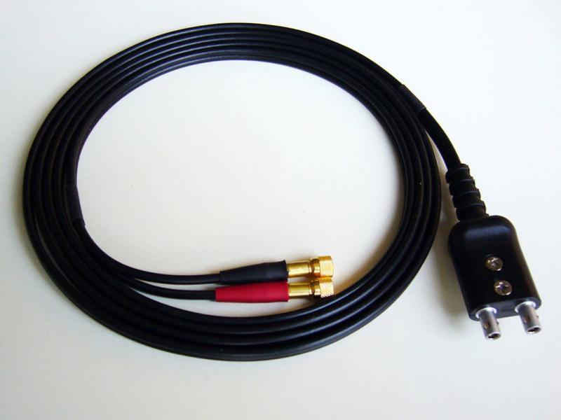 Cable for flaw detector, Equality LEMO-00 Dual Plug  to 2Microdot  Krautkramer lemo connector 2 pin ffa 0s 302 era 0s 302 lemo plug self locking connector plug socket
