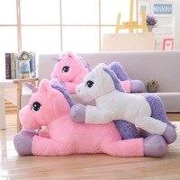 80cm 110cm Plush Unicorn Toys Giant Stuffed Flying Horse Soft Stuffed Animal big Cushion for Cushion Birthday gift Women