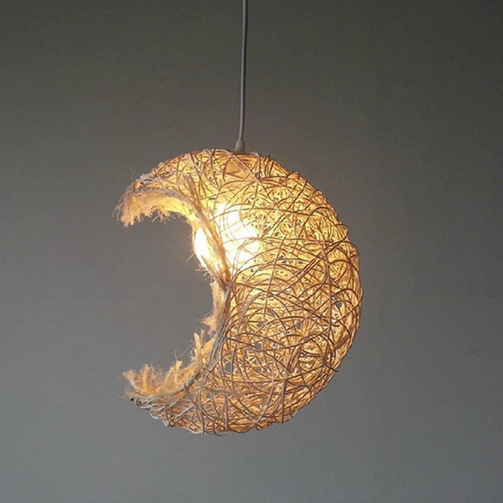 ᗚASCELINA iluminación Luna decoración casera rústica lámpara ...