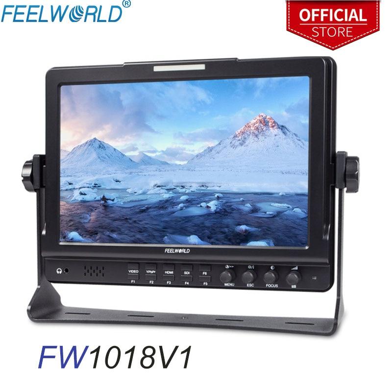 "FEELWORLD FW1018V1 10.1"" IPS 1920x1200 HDMI camera field monitor dslr monitor Desktop LCD Monitor Photography Studio SONY NIKON|Monitor| |  - title="