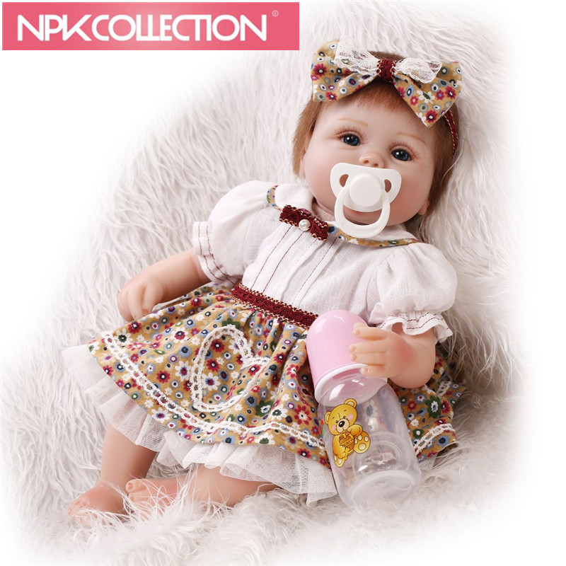 New Arrival 17 inch Reborn Dolls So Truly Soft Silicone Babies Doll For Toddler Baby Toy Cloth Body Realistic bebe Alive Reborns npk lifelike 16 soft silicone reborn baby dolls truly pretty girl reborns realistic babies doll wear dress toddler playmate