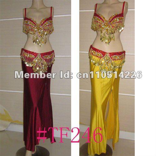 large size new design belly dance costume set BRA 42D belt 2 piece set accept any