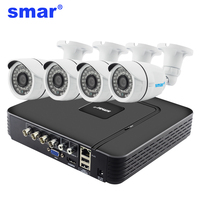 Smar 4CH Home Security System 960H CCTV DVR HDMI 4PCS 1000TVL IR CUT Filter Weatherproof Outdoor
