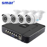 Smar 4CH Home Security System 960H CCTV DVR HDMI 4PCS 1000TVL IR CUT Filter Weatherproof Outdoor
