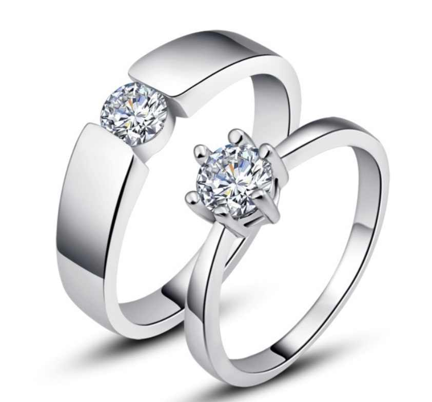 Vintage Wedding Rings For Lovers Silver Jewelry Wholesale Cheap
