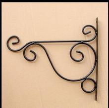 Бесплатная доставка, 2 шт./лот, Черный цвет, 25 * см. Кованое железо стене висит паук цветок орхидеи крюк стены крюк паучок кадров