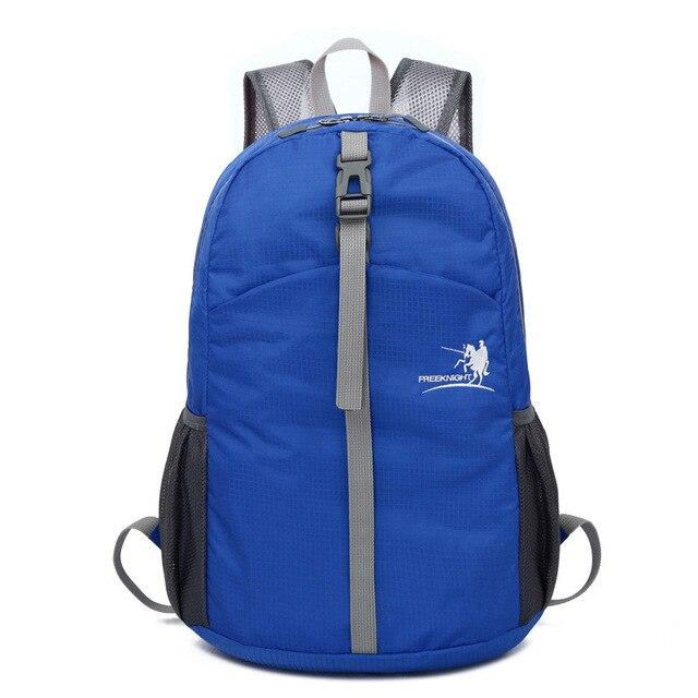 Prix pour Nouveau Vente Livraison chevalier 30L ultra-léger imperméable à l'eau Pliable Sports de Plein Air Escalade sac de Voyage scolaire des élèves sac à dos