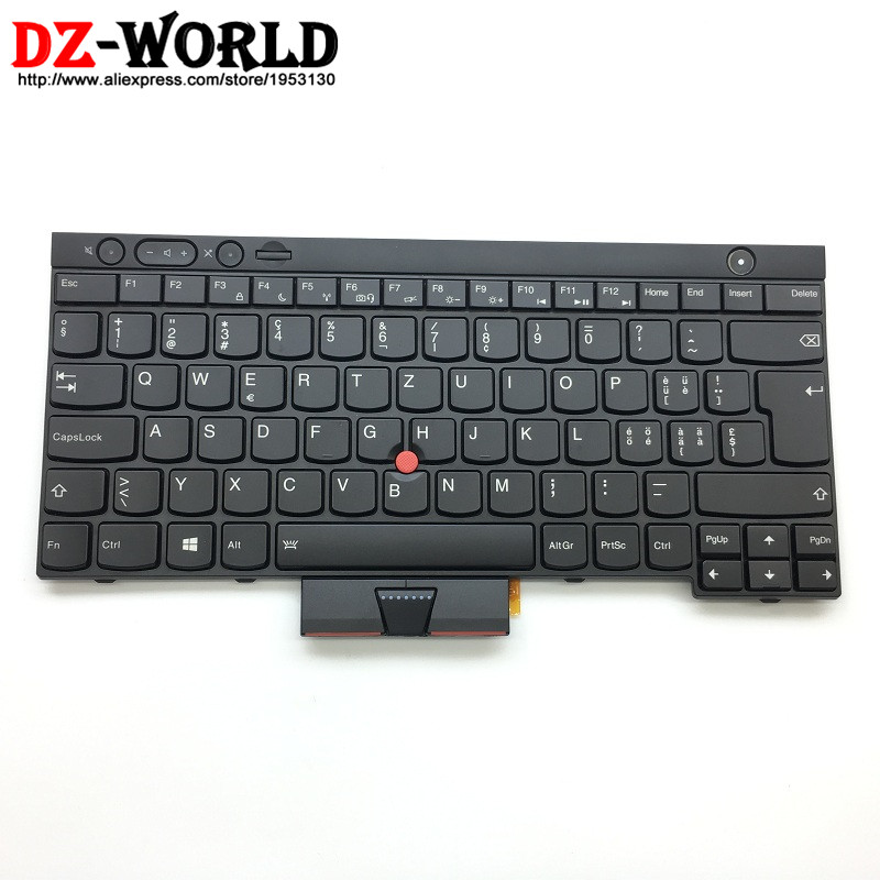 New Original for Lenovo Thinkpad X230 X230i X230T X230 Tablet Backlit Swiss Keyboard 04X1267 04X1380 04Y0666 04Y0555 0C01950 neworig keyboard bezel palmrest cover lenovo thinkpad t540p w54 touchpad without fingerprint 04x5544