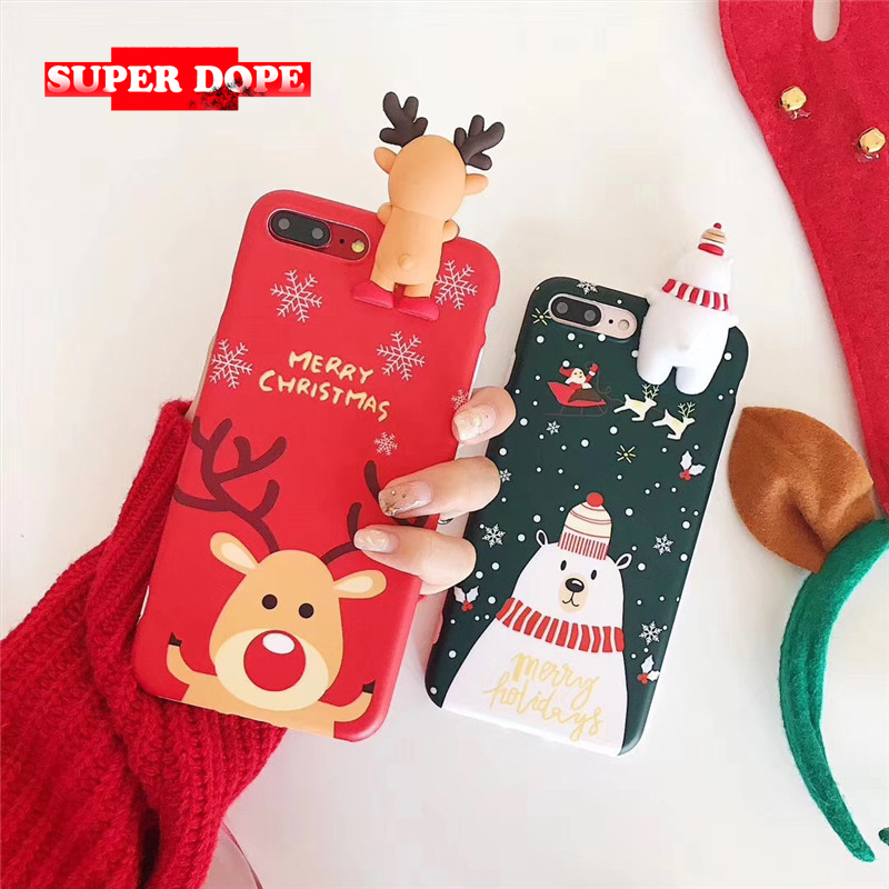 Superdope merry christmas phone cover For iPhone 6 6s 7 8Plus  PLUS iphone6s 8 For Apple XR xsmax fundas battery cover XS coque