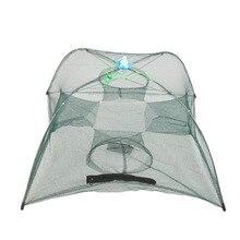 Fishing Net 4 Hole Folding Portable Automatic Fishing Shrimp Trap Fish Minnow Crab Baits Cast Mesh Trap Tackle Pesca Accessories недорого