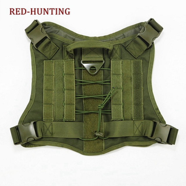 Tactical Military Nylon Molle System Dog Training Dog Harness ...