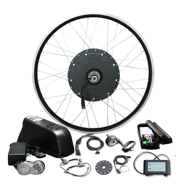 1000w E Bike Conversion Kit 700c Rear Wheel With 48v 16a Lg Battery For Brushless Hub Motor Lcd900 Display Electric In Bicycle