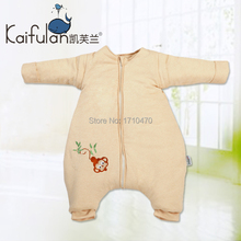 Newborn infant child ploughboys sleeping bag autumn and winter thick baby colored cotton anti kicking
