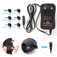 Universal 30W 3V To 12V Charger AC DC Adapter Switching Power Supply With 6 Selectable Adapter