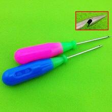 2 pçs gancho em linha reta plástico lidar com furador furador furador de couro sapatos artesanais ferramentas de costura ferramentas de broca costura agulha acessórios