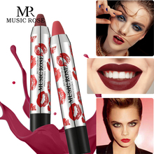 MUSIC ROSE Professional Makeup Crayon Lipstick Pen Korean Fashion Matte Lipetick Nude Red Lip Stick Sexy Women Lips Gifts