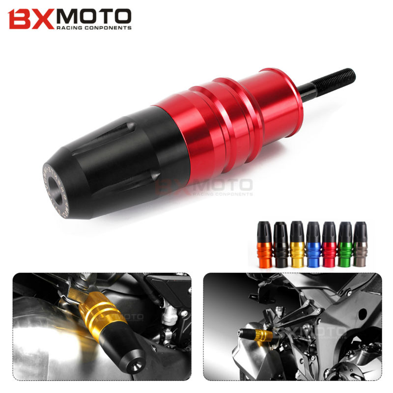 Motorcycle Cnc Aluminum Red Crash Pads Exhaust Sliders Crash Protector Red For Kawasaki Z800 Z250 Z300 z900 Ninja 250 300 1000 motorcycle cnc aluminum frame sliders crash pads protector suitable for kawasaki z800 2012 2013 2014 2015 2016 green