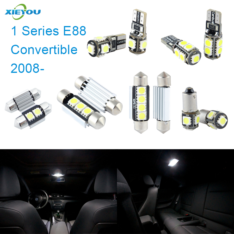 XIEYOU 7pcs LED Canbus Interior Lights Kit Package Para 1 Series E88 Convertible (2008+)
