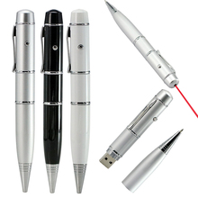 lighting pen USB Flash Drives With leds multi-functional laser pointer Pendrives 8gb 16gb 32gb 64GB Laser Pen drives Gift 4GB