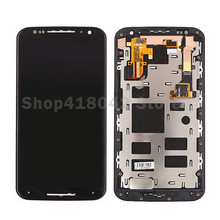 Black For Motorola Moto X2 Xt1092 Xt1095 Xt1097 LCD Display With Touch Screen Digitizer Assembly with Frame Free Shipping