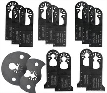 15 pcs quick change  oscillating  tool saw blade for Multifunction power tool at lowest price,good for cutting