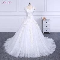 2018 Ruffled Silky Satin Bride Elegant Ball Gown Wedding Dress With Bow Sashes Vestido De Noiva