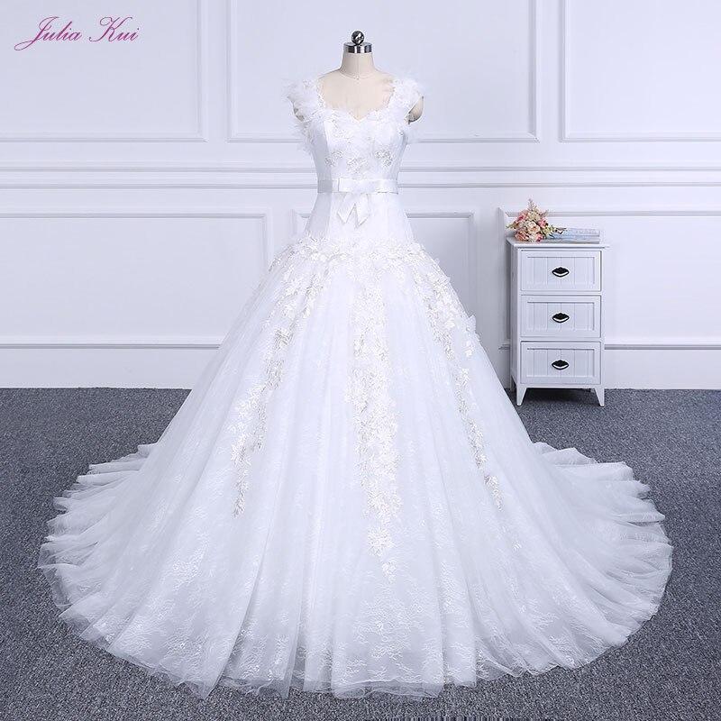 Ruffled Ball Gown Wedding Dress: 2019 Ruffled Silky Satin Bride Elegant Ball Gown Wedding