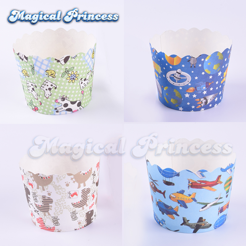 dino <font><b>dinosaur</b></font>,cow,outer space,airplane muffin cupcake paper <font><b>cup</b></font> baking <font><b>cups</b></font> child <font><b>birthday</b></font> baby shower party
