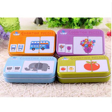 Flash Card Baby English Flashcards Animal Fruits Transportation Words Cognitive Baby Learning Cards Montessori Iron Box