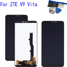 5.45inch New For ZTE Blade V9 Vita LCD Display Touch Screen Digitizer Assembly Replacement Parts With Tools original for zte blade z7 x7 v6 d6 t660 t663 lcd display touch screen digitizer assembly replacement parts black white tools
