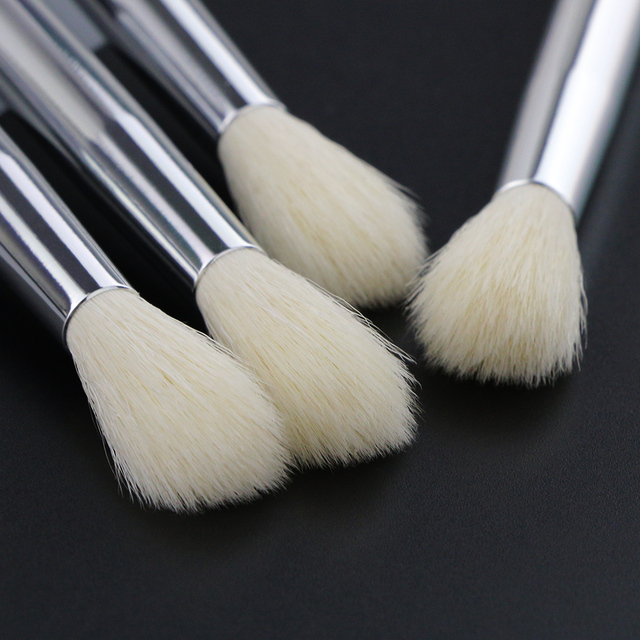 BEILI X04 white Goat Hair mixed Synthetic hair Eye Shadow Blending Single Makeup Brushes Glitter Handle 2
