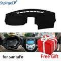 Pour Hyundai Santa Fe 2007-2011 2012 tableau de bord tapis de protection ombre coussin pad intérieur autocollant voiture style accessoires