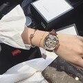 Женские часы со стразами SpinnngTriangle  роскошные модные нарядные часы  кварцевые водонепроницаемые наручные часы из натуральной кожи  вращающи...