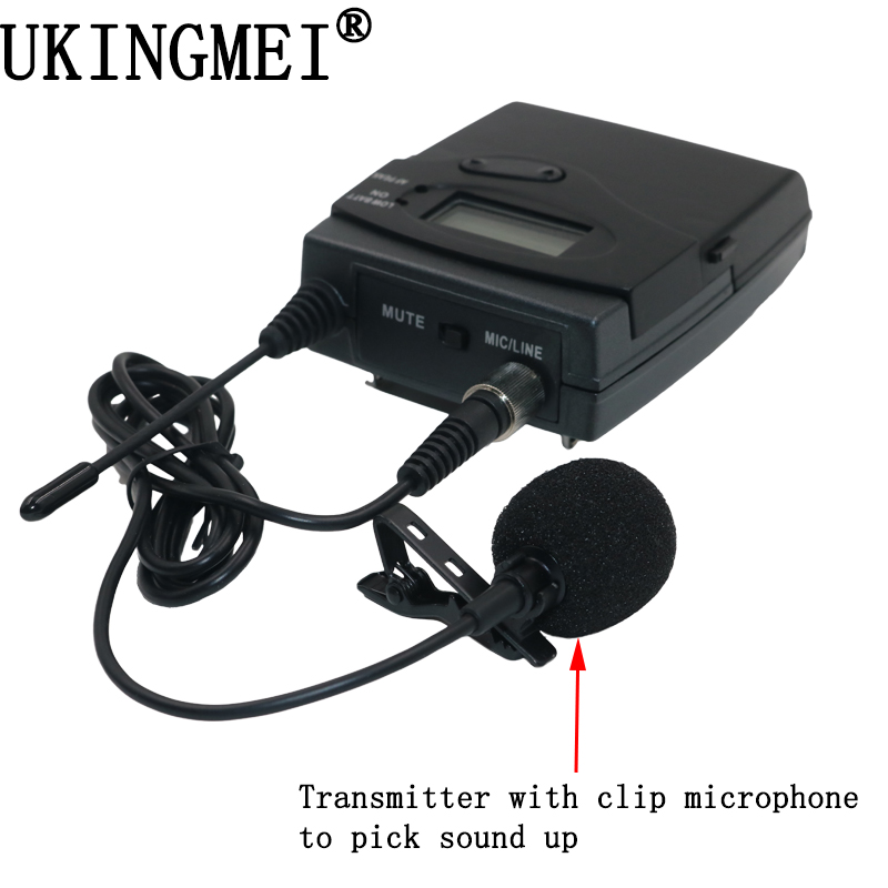 Portable Wireless Microphone Transmitter (only) For UK-300 niorfnio portable 0 6w fm transmitter mp3 broadcast radio transmitter for car meeting tour guide y4409b